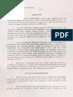 Patricia Bautista Affidavit