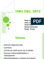 LEY 1562 DEL 2012