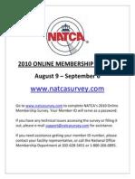 Flyer - Membership Survey Notice - Online Survey