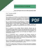 3.- R.J.Nº N° 216-2009-INE