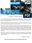 Carta CPP Nacional - Canabrava