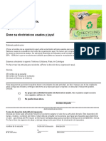 Recycling Fundraiser School Parent Letter Spanish