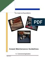 Carpet Maintenance Guidelines