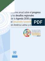 Agenda 2030 ALC progresos y desafíos