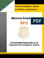 Memoria Estadística OIJ 2013 _2