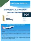 Knowledge Management Applied for British Airways