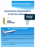 Knowledge Management Applied for British Airways