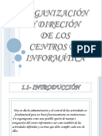 Organización y direción de los Centros de Cómputo