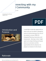 pme 810 connecting with my professional community