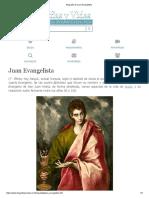 Biografia de Juan Evangelista