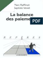 La Balance Des Paiements - La Découverte 2003