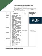 Características, Configuración y Gestión Del SMBD