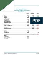 CSA Tutorial Services - Cash Summary