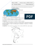 Avaliação de Geografia II Unidade - 8º ano B.doc