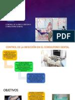 CONTROL DE LA INFECCIÓN EN EL CONSULTORIO DENTAL.