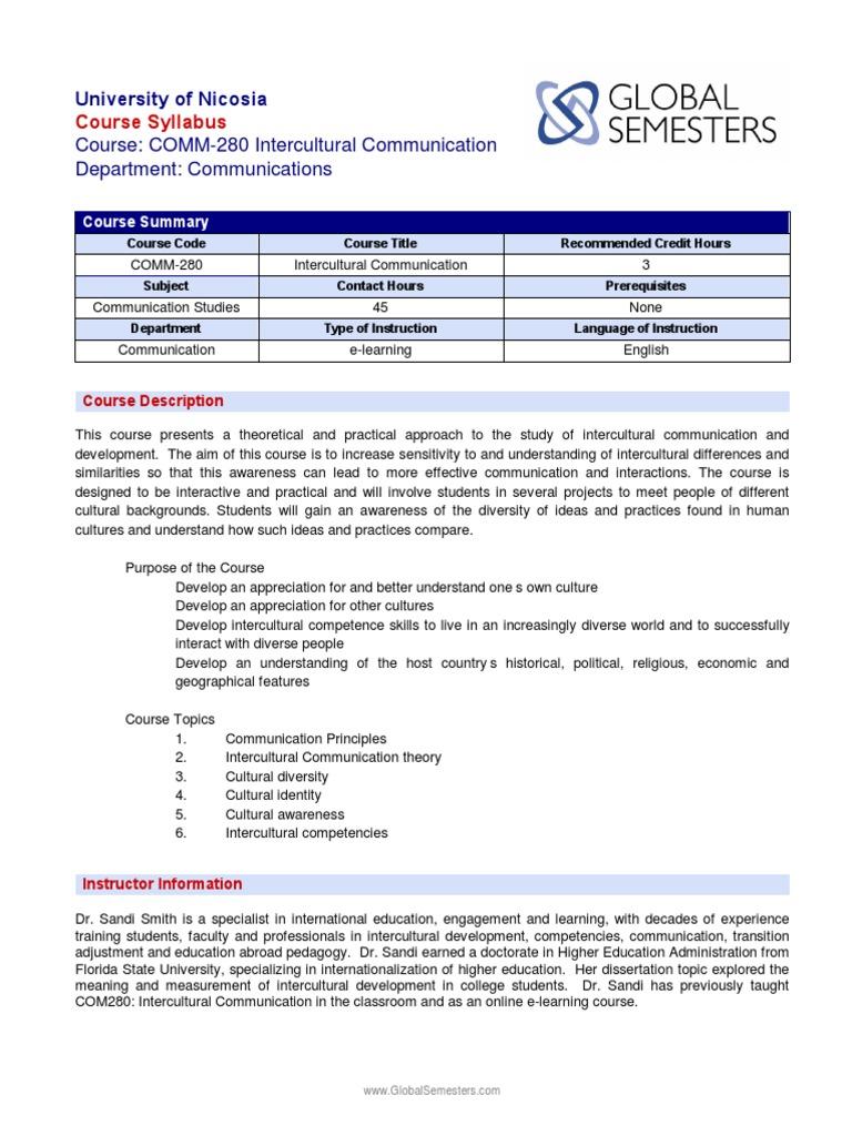 Cultural Diversity Intercultural Communications or SLA class