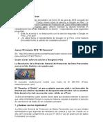 Caso Google APDP Perú Foro