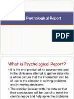 Midterm Writing Psychological Report