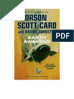 La Tierra Se Despierta - Orson Scott Card y Aaron Johnston - Primera Guerra Insectora III