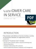 Lu-2 Customer Care in Service