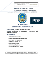Plan Haccp de Cobertura de Chocolate