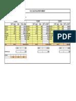 CG Calculation