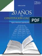 20 Años de La Constitucion Politica Colombiana