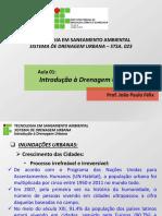 775087-Drenagem - Aula 01 - Introdução Drenagem Urbana