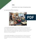 six types of co-teaching