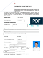 VietJetAir Employment Application Form.doc