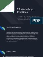 7.2 Workshop Practices