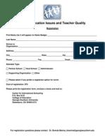 Registration Sample for Summit