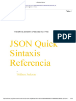 Json Quick Syntax Reference - Wallace Jackson - Español