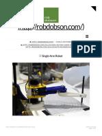 Single-Arm Robot   robdobson.com