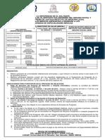 Convocatoria Nacional Ingreso 2018 MODIFICADO 19ABR17 Fecha Publicación Pago y Retiro Carpeta 3abr17