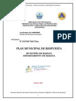 Plan Municipal de Respuesta Masaya 2008