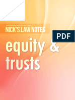 Nick's Notes - Equity & Trusts