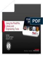 UsingPlantpaxlibraryandtools_psug2012