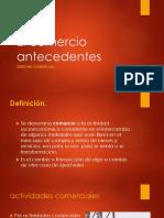 1. El Comercio Antecedentes Dº COMERCIAL