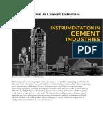 Instrumentation in Cement Industries