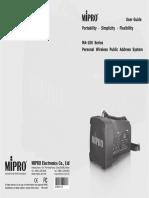 Ma 100DB Manual