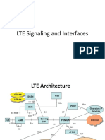 LTE Signalling and Interfaces