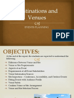 Chapter 4 Destination and Venues