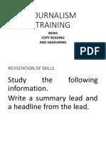 Journalism Training News