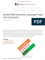 Know Assembly Language Programming of 8086