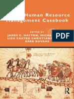 Global Human Resource Management Casebook