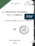 Piero Martinetti La Filosofia Religiosa Di Tyrrel