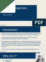 WiFi for Beginners Module 1 What is WiFi