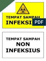 Label Tempat Sampah
