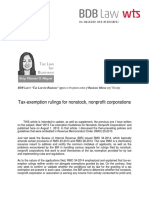 449. Tax-exemption Rulings for Nonstock, Nonprofit Corporations - FDM 9.25.14